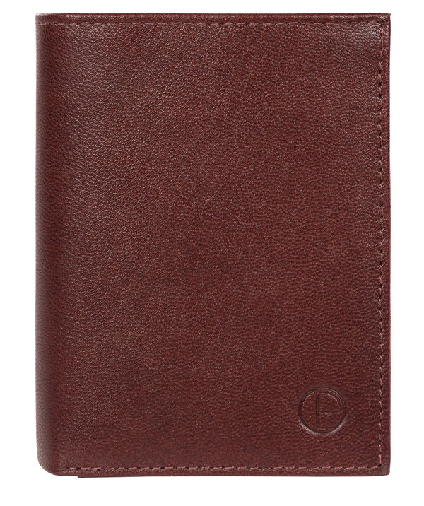 'Dillon' Dark Brown Leather Bi-Fold Wallet image 1