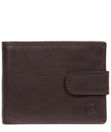 'Tempest' Black Coffee Leather Bi-Fold Wallet image 1