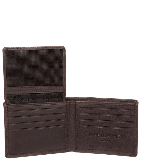 'Baltimore' Black Coffee Leather Bi-Fold Wallet image 3