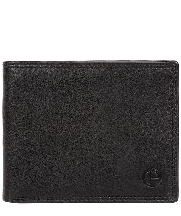 'Baltimore' Black Leather Bi-Fold Wallet image 1