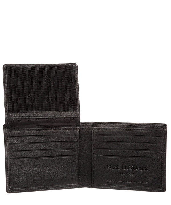'Baltimore' Black Leather Bi-Fold Wallet image 3