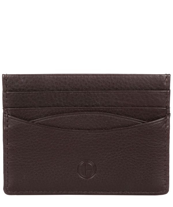 'Tucano' Black Coffee Leather Card Holder image 1