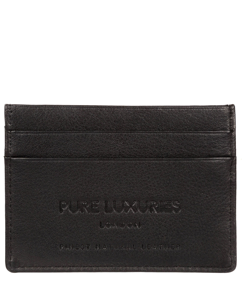 'Tucano' Black Leather Card Holder image 3
