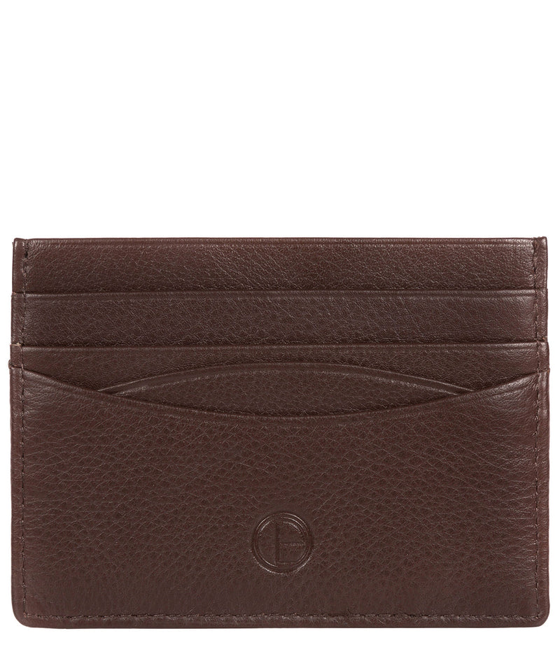 'Tucano' Brown Leather Card Holder image 1