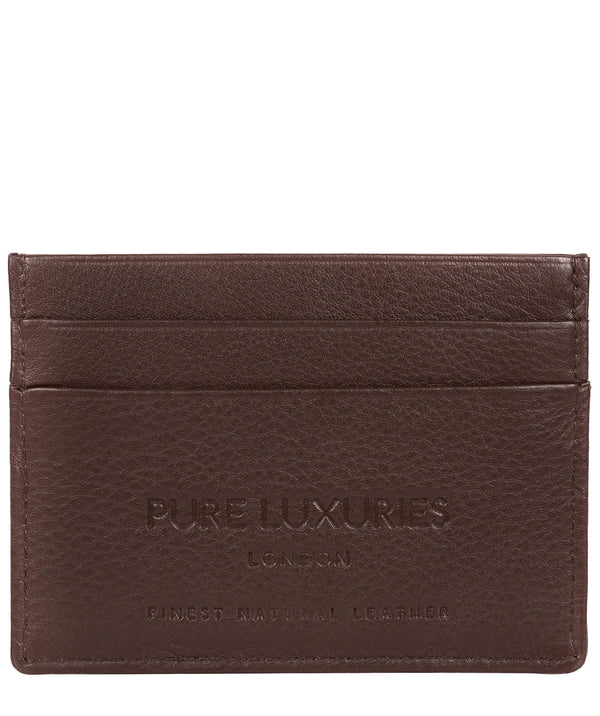 'Tucano' Brown Leather Card Holder image 3