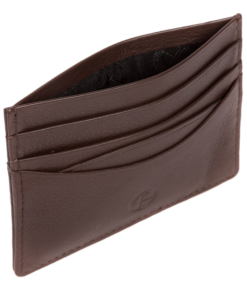 'Tucano' Brown Leather Card Holder image 4