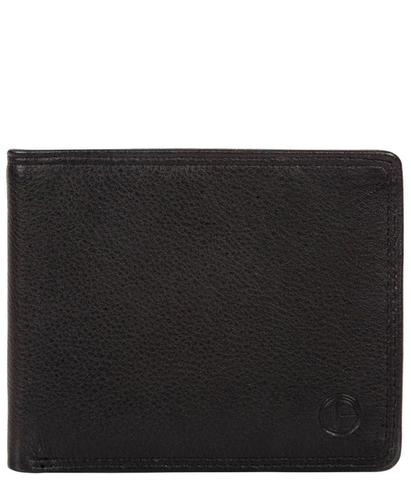 'Wellington' Black Leather Bi-Fold Wallet