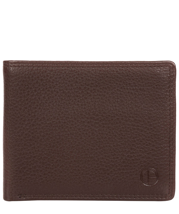 'Wellington' Brown Leather Bi-Fold Wallet image 1
