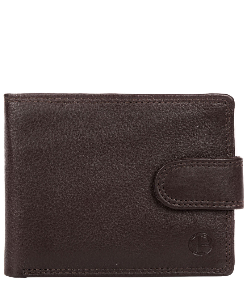 'Typhoon' Black Coffee Leather Bi-Fold Wallet image 1