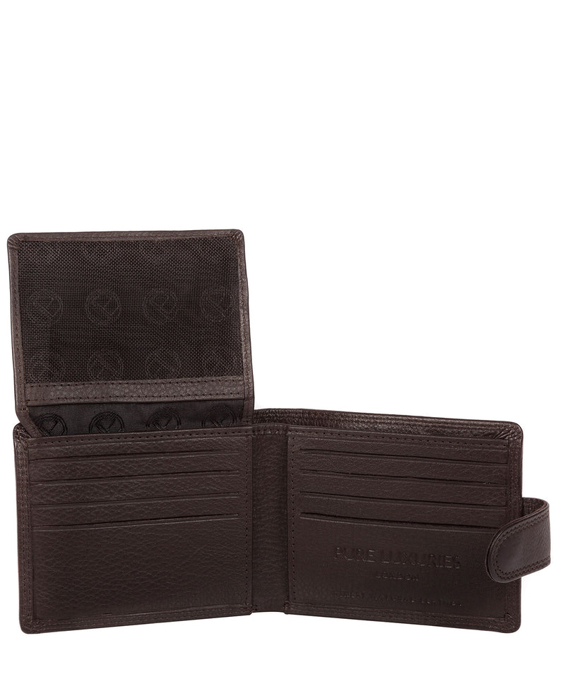 'Typhoon' Black Coffee Leather Bi-Fold Wallet image 3