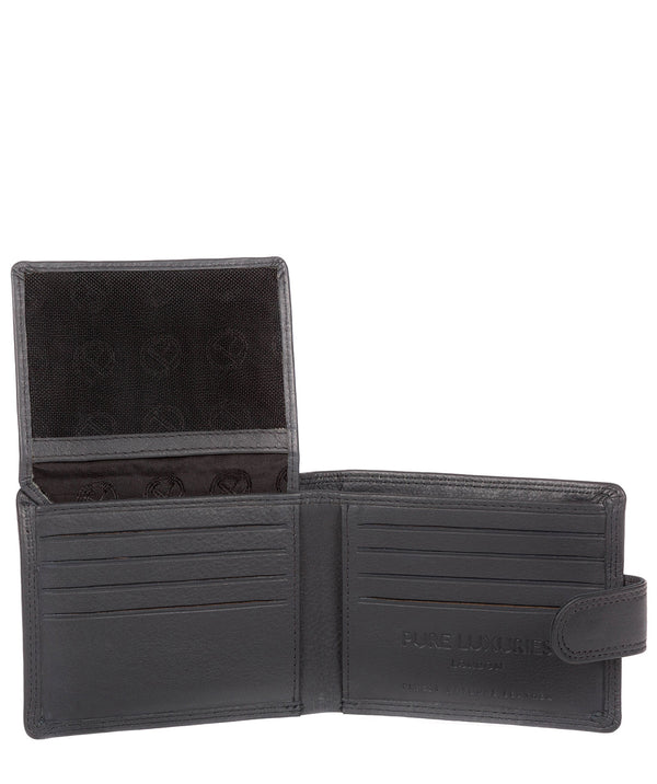 'Typhoon' Gun Metal Leather Bi-Fold Wallet image 3