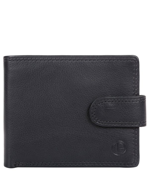 'Typhoon' Navy Leather Bi-Fold Wallet image 1