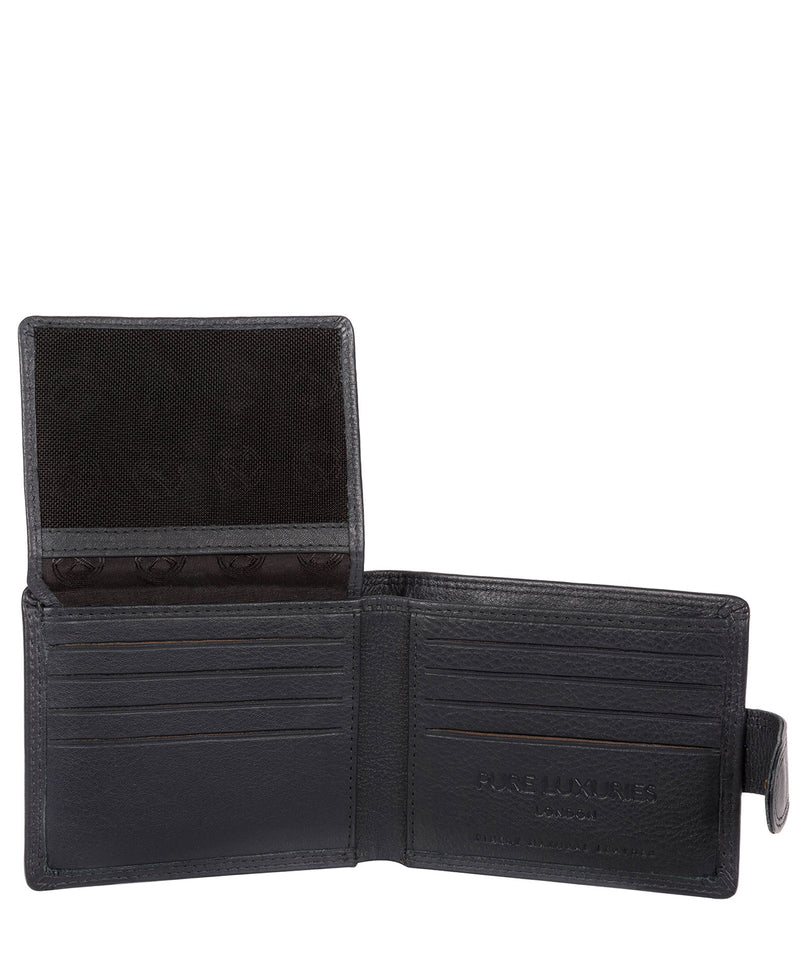 'Typhoon' Navy Leather Bi-Fold Wallet image 3