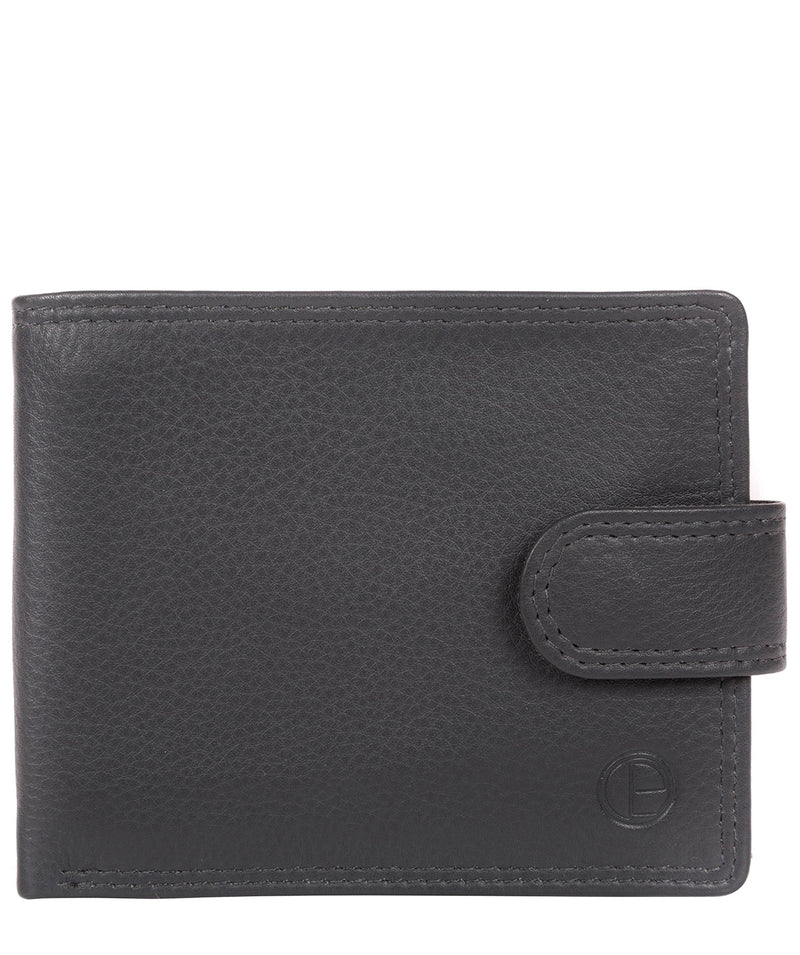 'Spitfire' Gun Metal Leather Bi-Fold Wallet image 1