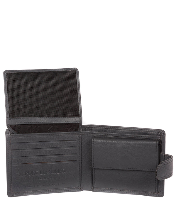 'Spitfire' Gun Metal Leather Bi-Fold Wallet image 3