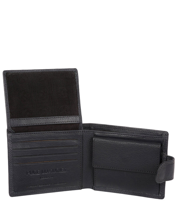 'Spitfire' Navy Leather Bi-Fold Wallet image 3