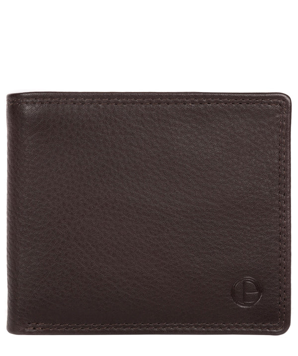 'Hurricane' Black Coffee Leather Bi-Fold Wallet image 1