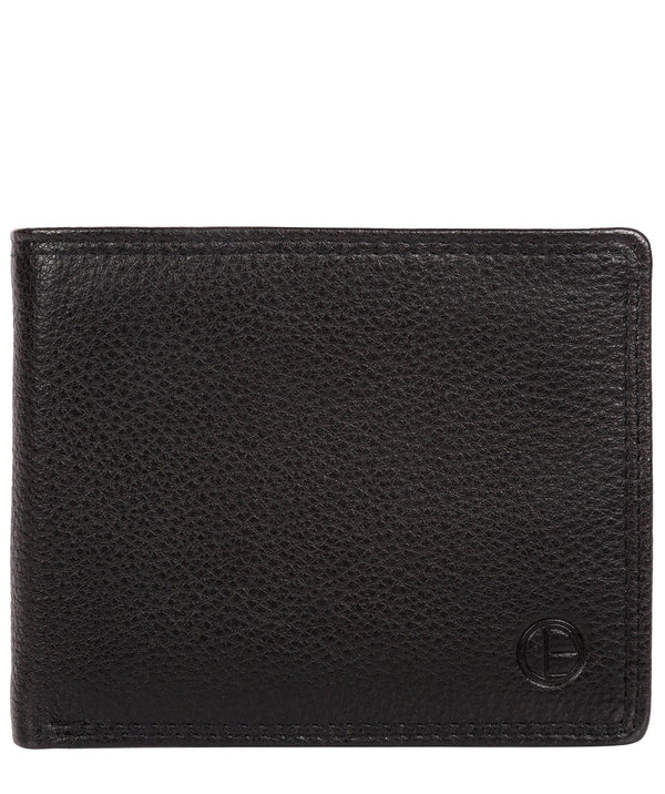 'Hurricane' Black Leather Bi-Fold Wallet image 1