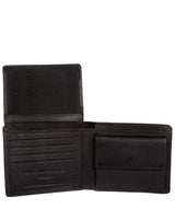 'Hurricane' Black Leather Bi-Fold Wallet image 3