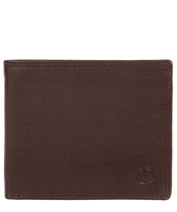 'Hurricane' Brown Leather Bi-Fold Wallet image 1