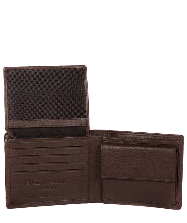 'Hurricane' Brown Leather Bi-Fold Wallet image 3