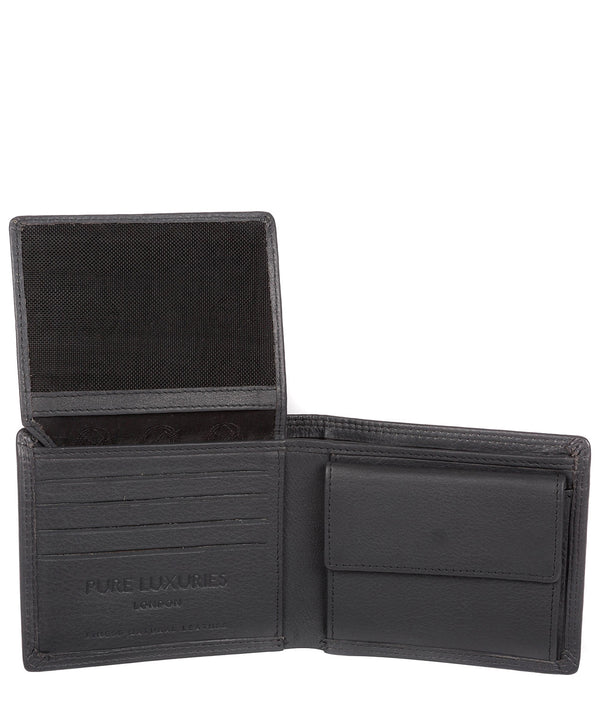 'Hurricane' Gun Metal Leather Bi-Fold Wallet image 3