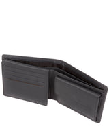 'Hurricane' Gun Metal Leather Bi-Fold Wallet