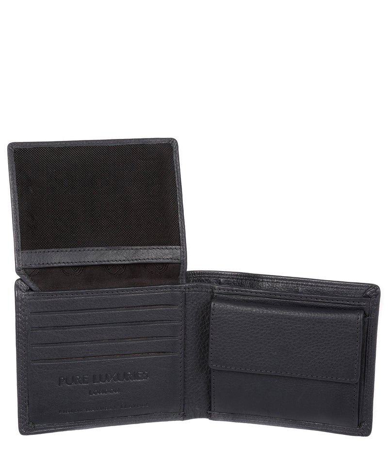 Hurricane' Navy Leather Bi-Fold Wallet image 3
