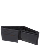 Hurricane' Navy Leather Bi-Fold Wallet image 4