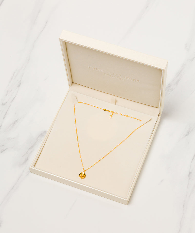 Gift Packaged 'Dylia' 18ct Yellow Gold Plated Sterling Silver & Freshwater Pearl Necklace