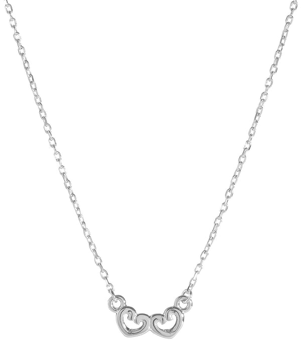 'Edrice' Sterling Silver Linked Hearts Necklace image 1