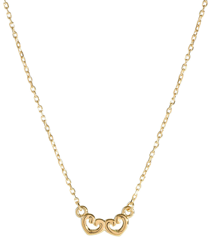 'Edrice' Gold Plated Sterling Silver Linked Hearts Necklace image 1