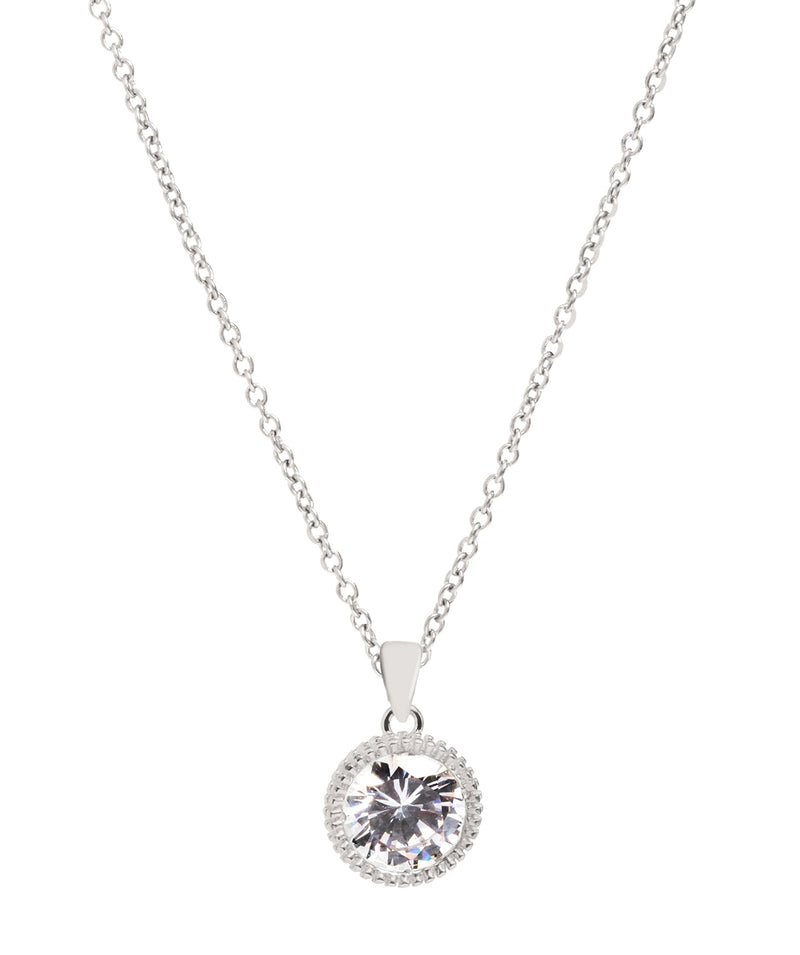 Gift Packaged 'Natalia' Sterling Silver & Cubic Zirconia Necklace