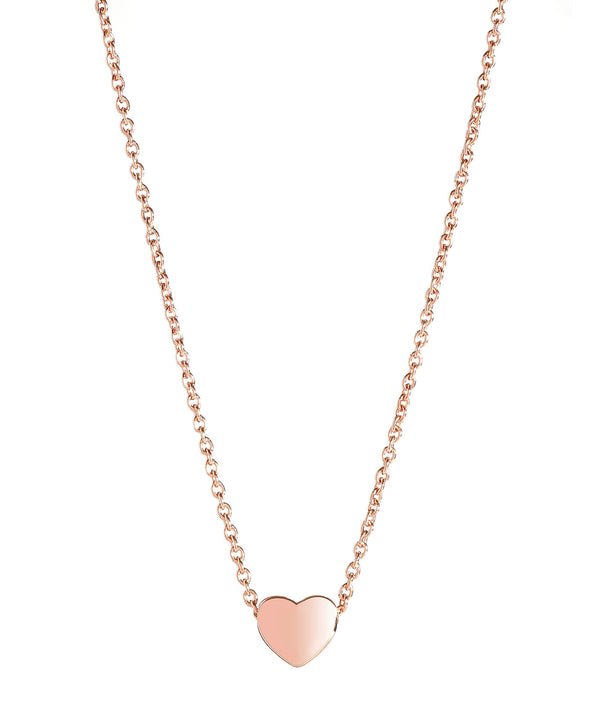 'Massika' Rose Gold Plated Sterling Silver Heart Necklace image 1