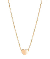 'Massika' Gold Plated Sterling Silver Heart Necklace image 1