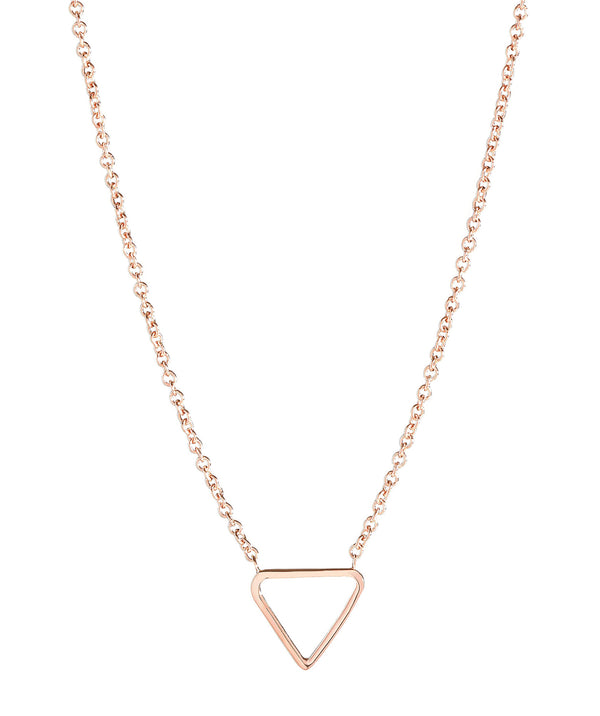 'Chione' Rose Gold Plated Sterling Silver Triangle Necklace image 1