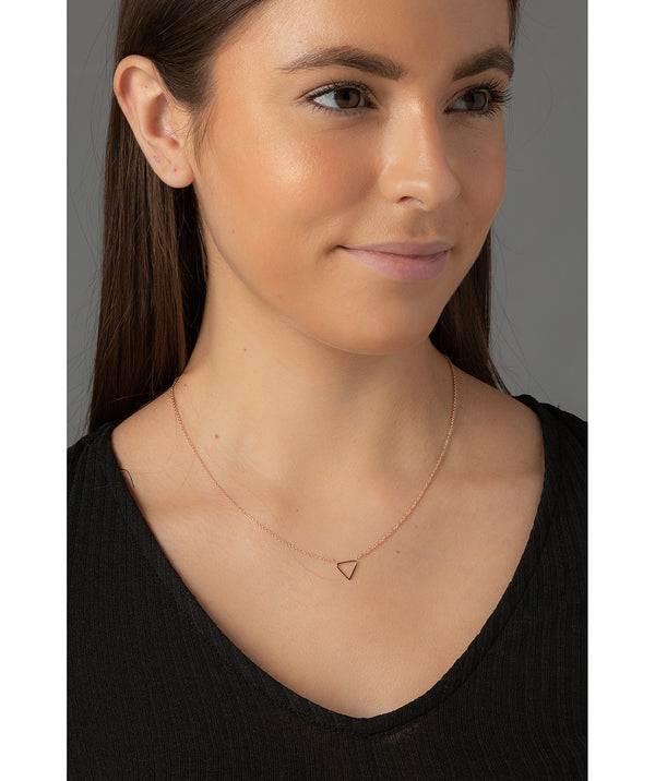 'Chione' Rose Gold Plated Sterling Silver Triangle Necklace image 2
