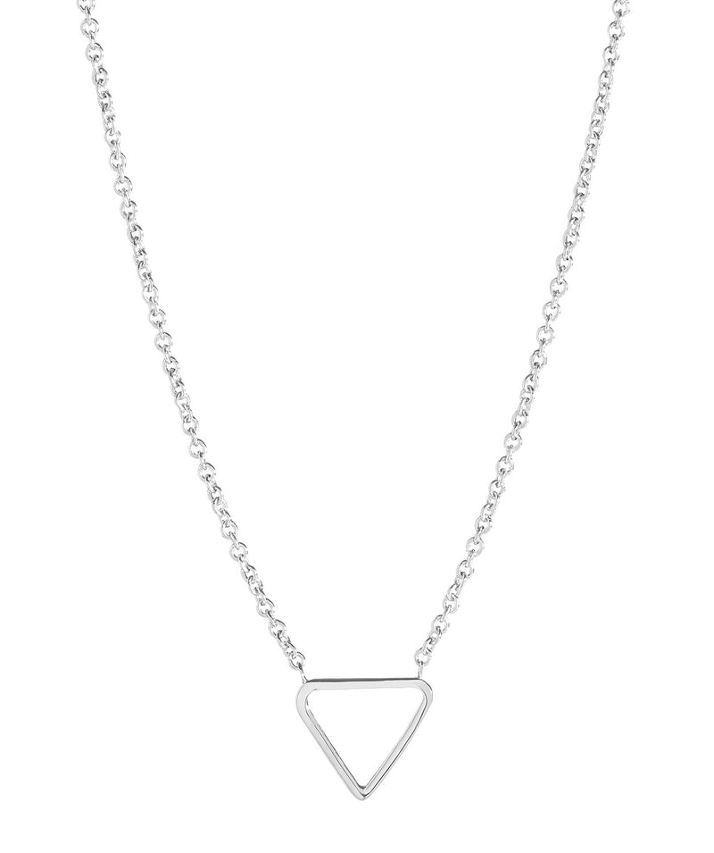 'Chione' Sterling Silver Triangle Necklace image 1