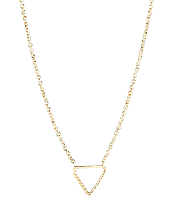 'Chione' Gold Plated Sterling Silver Triangle Necklace image 1