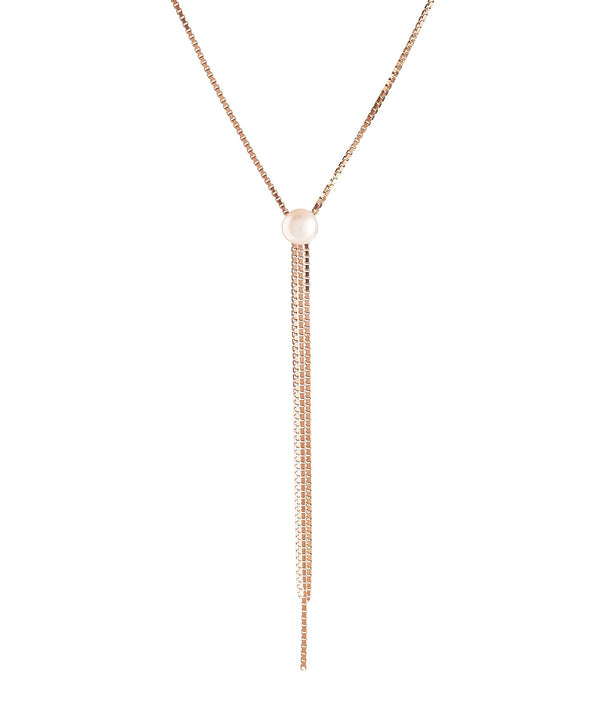 'Belit' Rose Gold Plated Sterling Silver Three Strand Pearl Necklace image 1