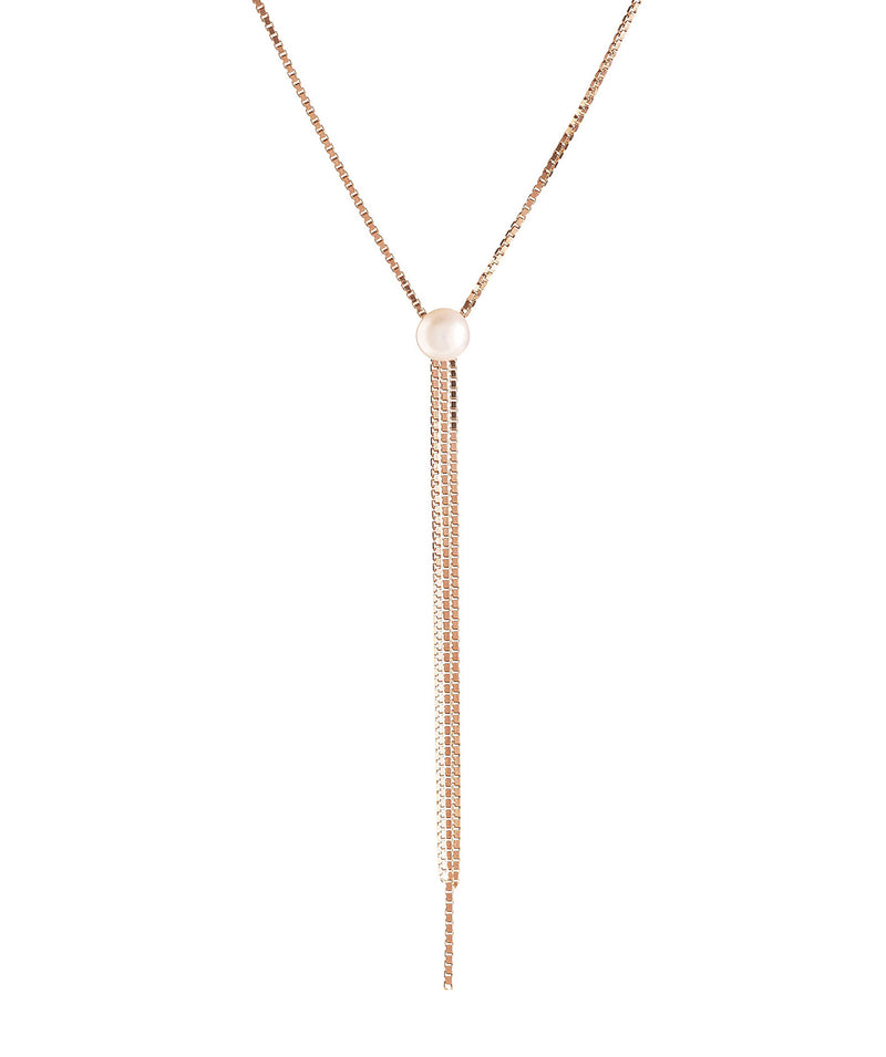 Gift Packaged 'Belit' 18ct Rose Gold Plated Sterling Silver Three Strand Pearl Necklace
