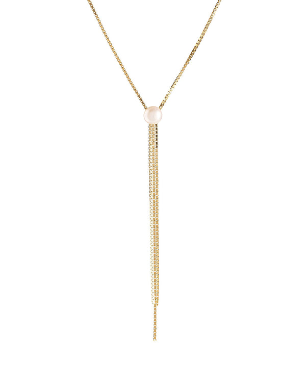 'Belit' Gold Plated Sterling Silver Three Strand Pearl Necklace image 1