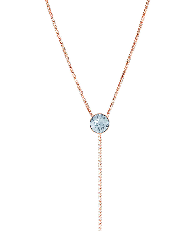 'Istar' Rose Gold Sterling Silver & Blue Crystal Necklace image 1