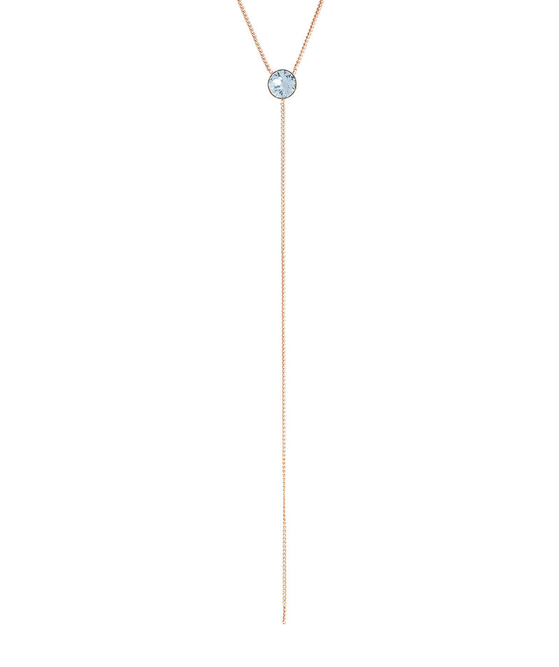 'Istar' Rose Gold Sterling Silver & Blue Crystal Necklace image 4