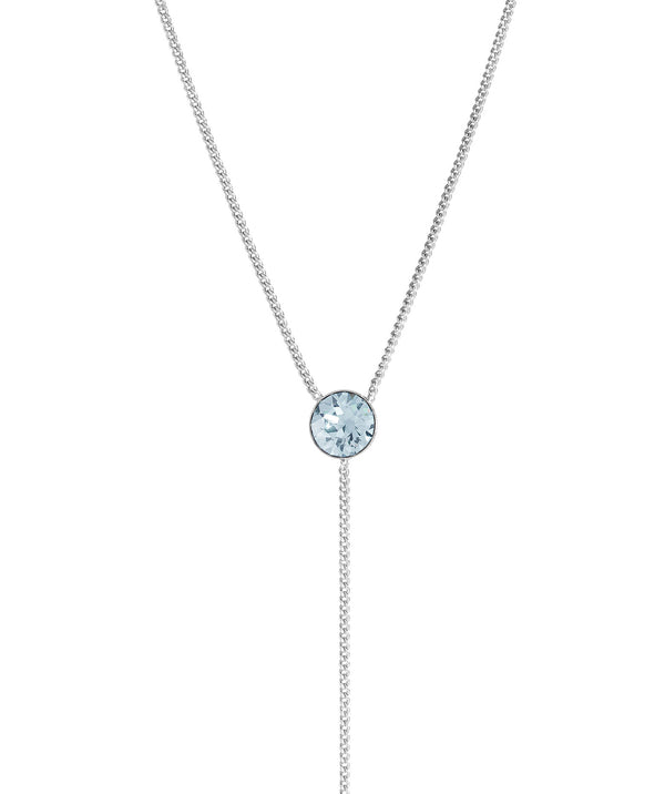 'Istar' Sterling Silver & Blue Crystal Necklace image 1