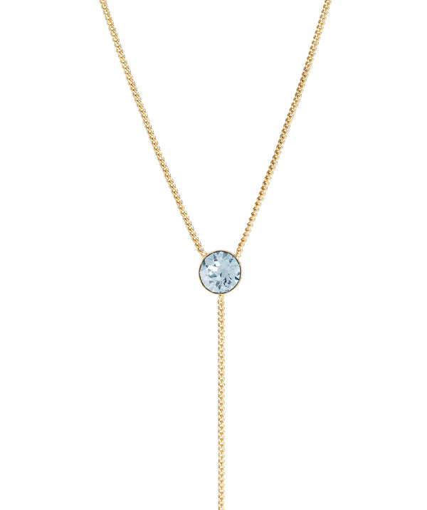 'Istar' Gold Plated Sterling Silver & Blue Crystal Necklace image 1
