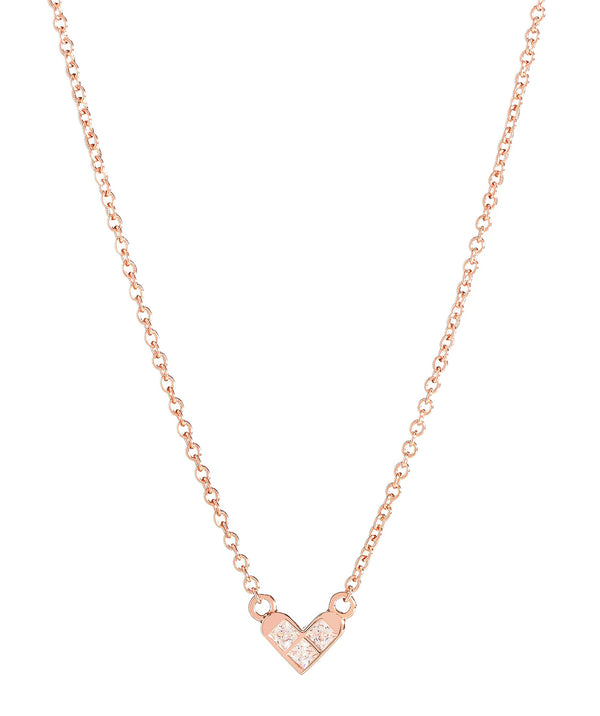 'Polydora' Rose Gold Plated Sterling Silver Heart Necklace image 1