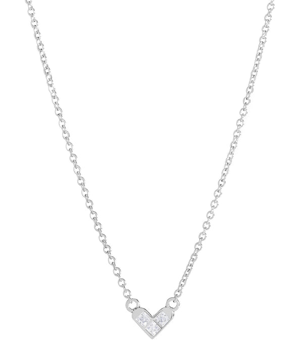 'Polydora' Sterling Silver Heart Necklace image 1