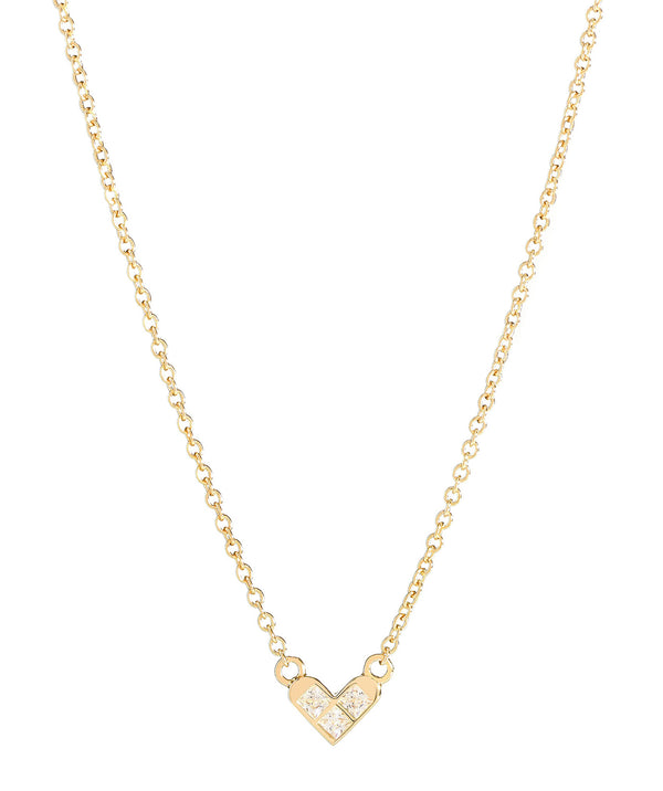 'Polydora' Gold Plated Sterling Silver Heart Necklace image 1