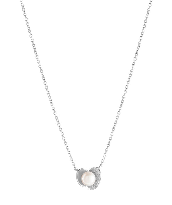'Maye' Sterling Silver Oyster and Pearl Necklace image 1